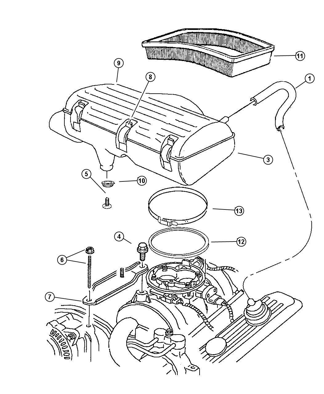 Dodge Ram Body Air Cleaner Lecold Nax Nab