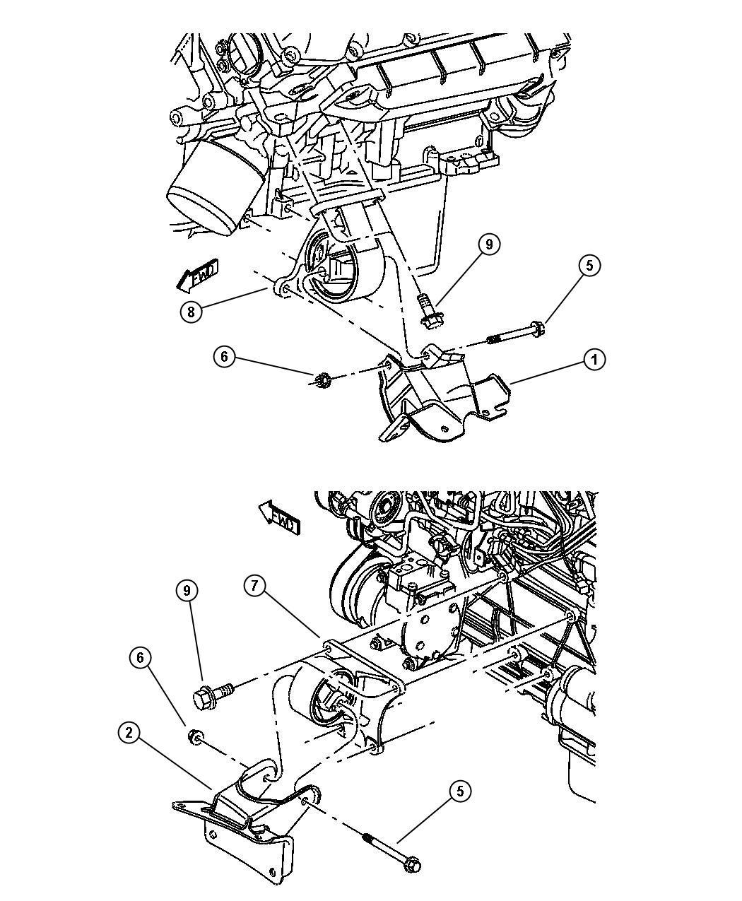 Dodge Viper Insulator Engine Mount Right Right