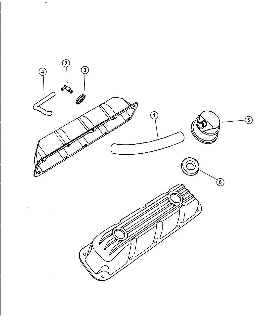 Chrysler Concorde Hose Crankcase Vent With Pcv