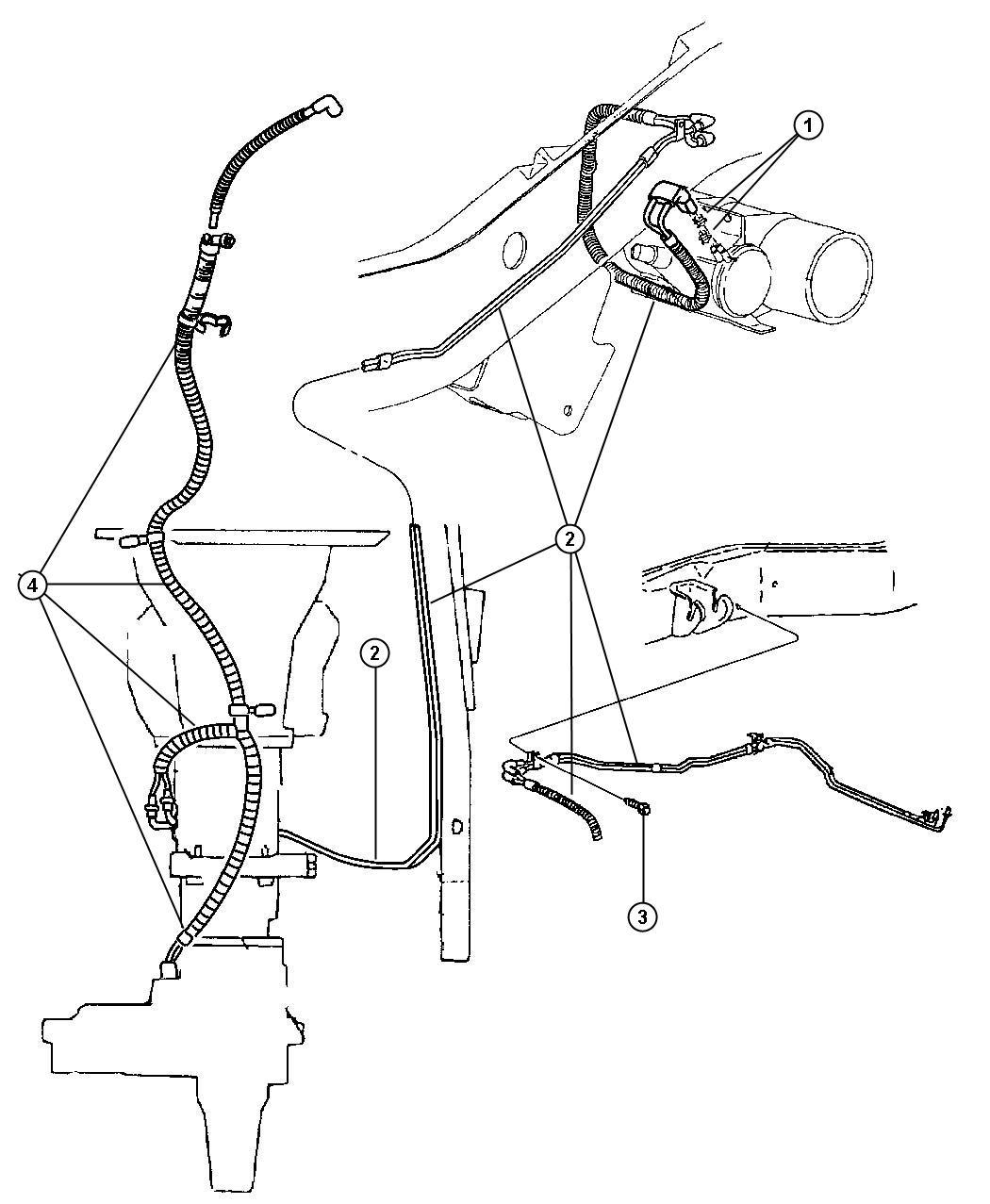 Dodge Ram Harness Vacuum Front Axle Transfer Case