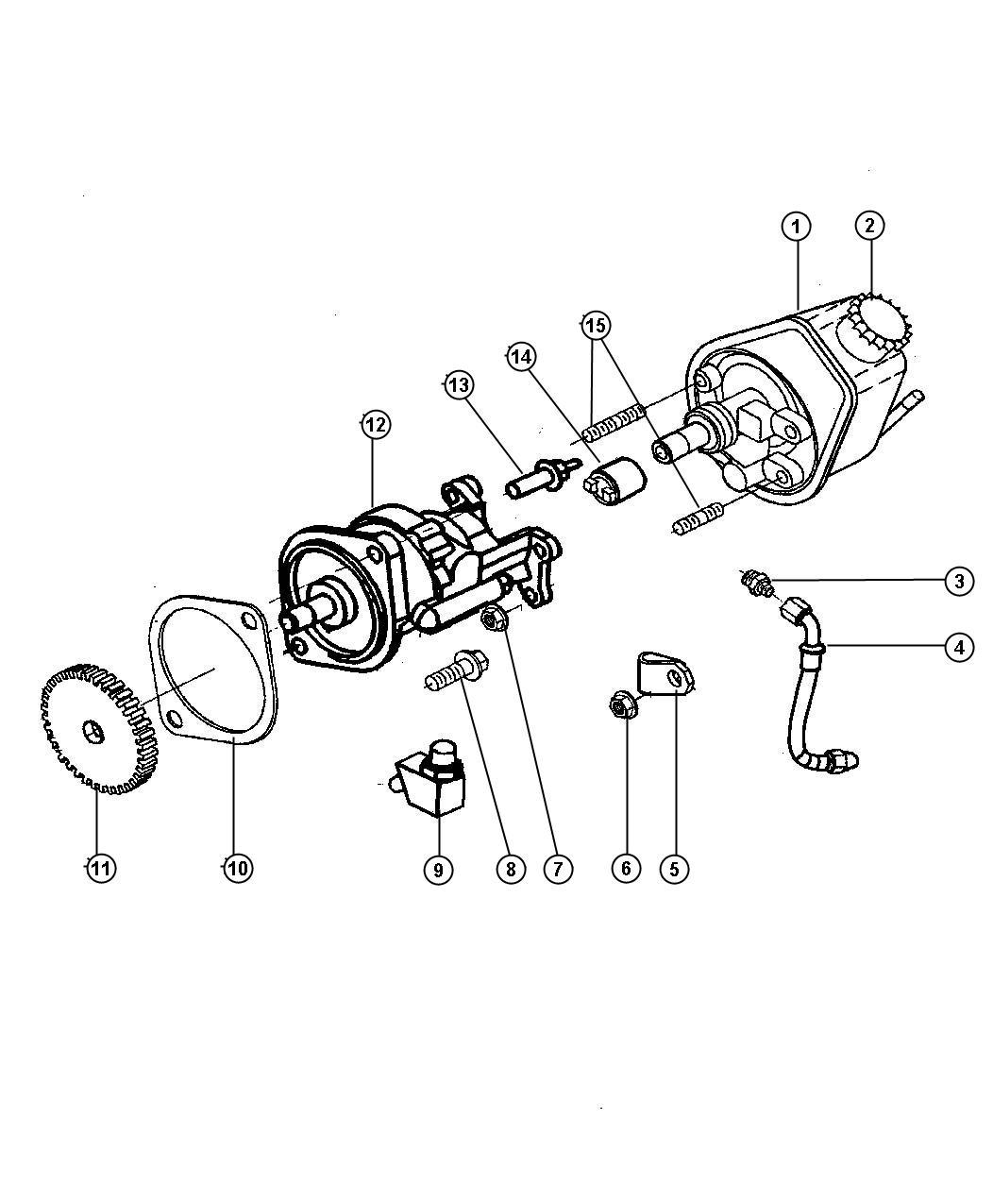 Dodge Ram Cap Power Steering Pump Encore