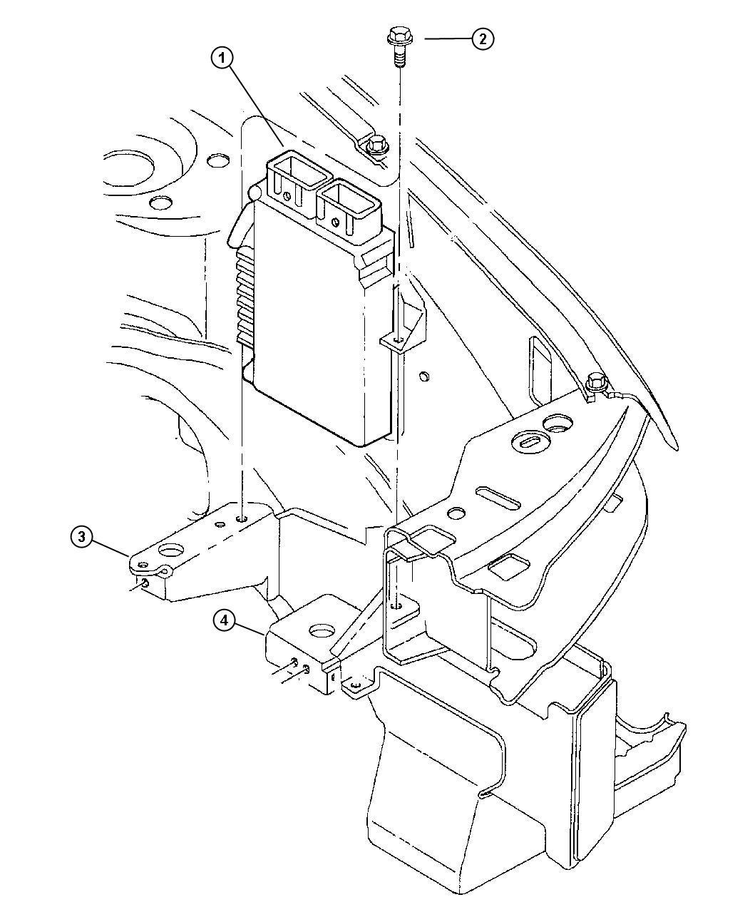 Chrysler Cirrus Module Engine Controller Federal