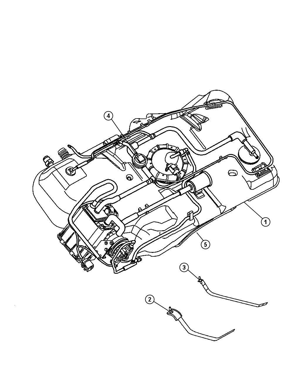 Chrysler Pt Cruiser Strap Right Fuel Tank Related