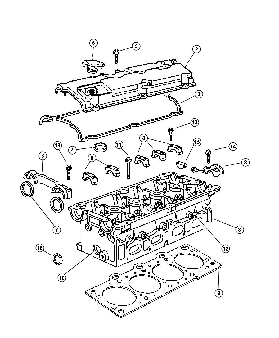Chrysler Sebring Gasket Cylinder Head Emissions