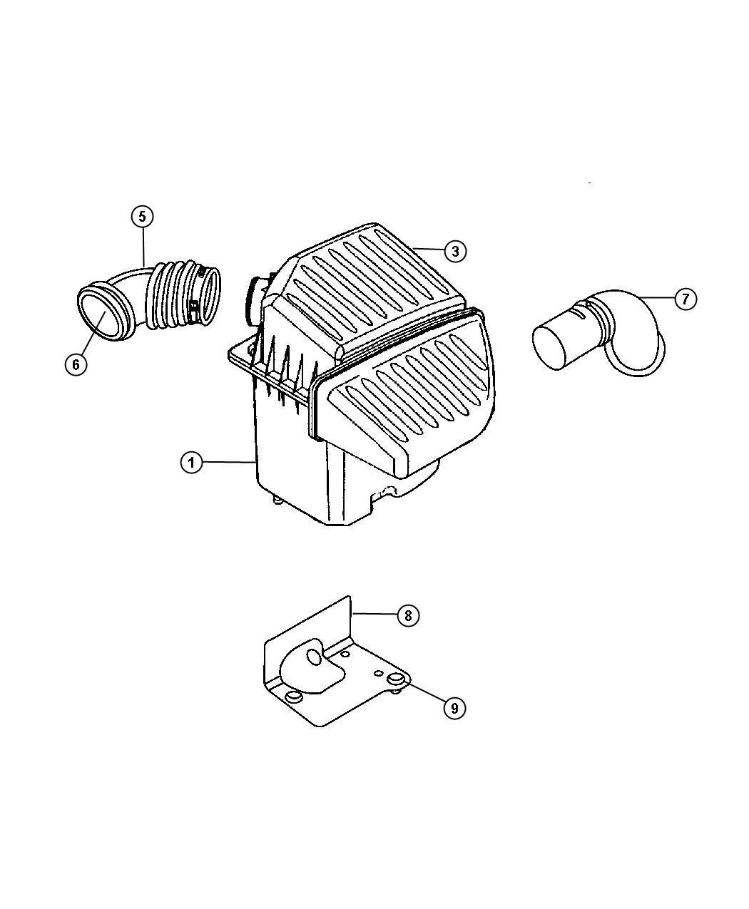 Chrysler Pt Cruiser Filter Crankcase Vent Located In