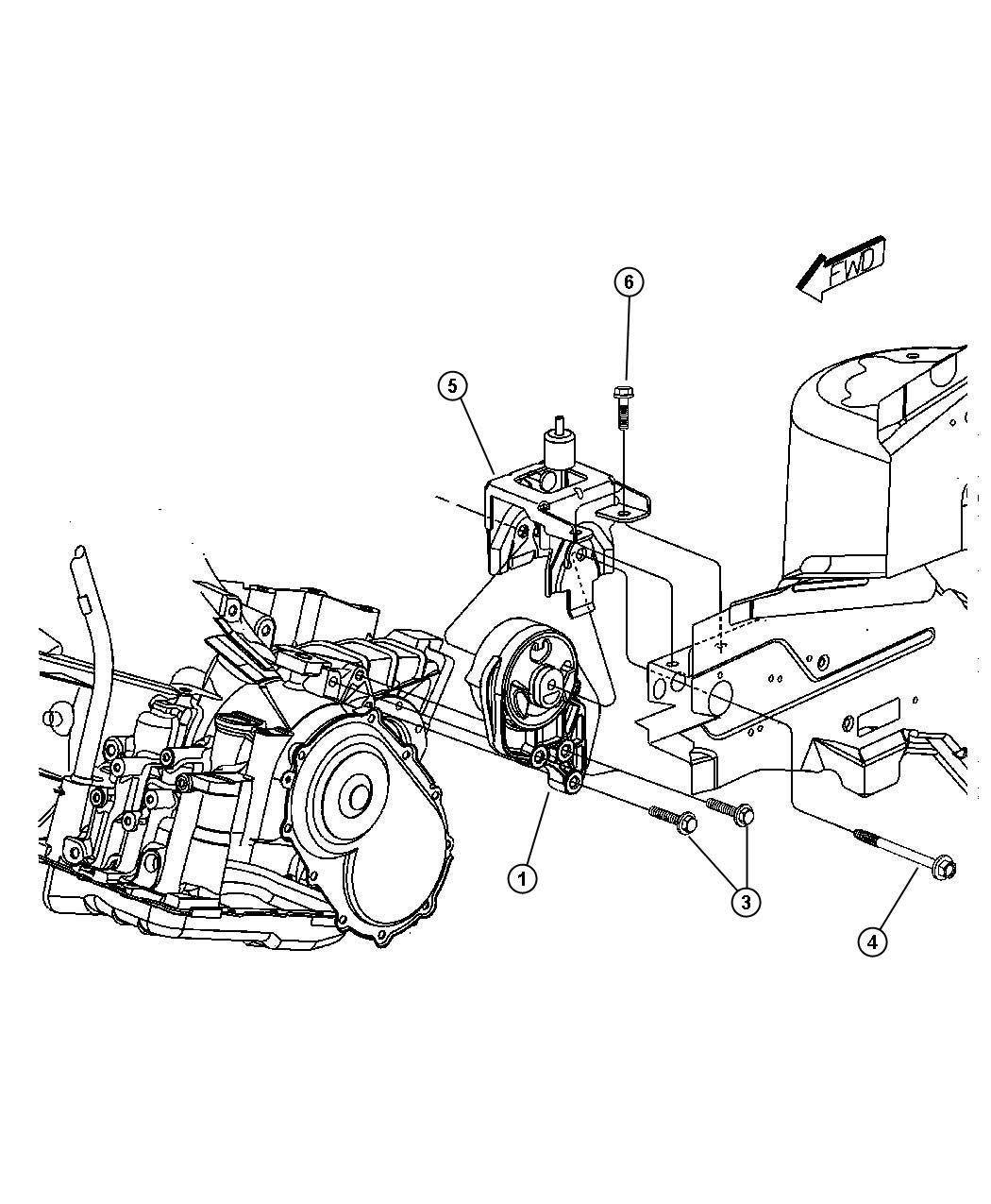 Dodge Dakota Support Engine Mount Isolator Bushing