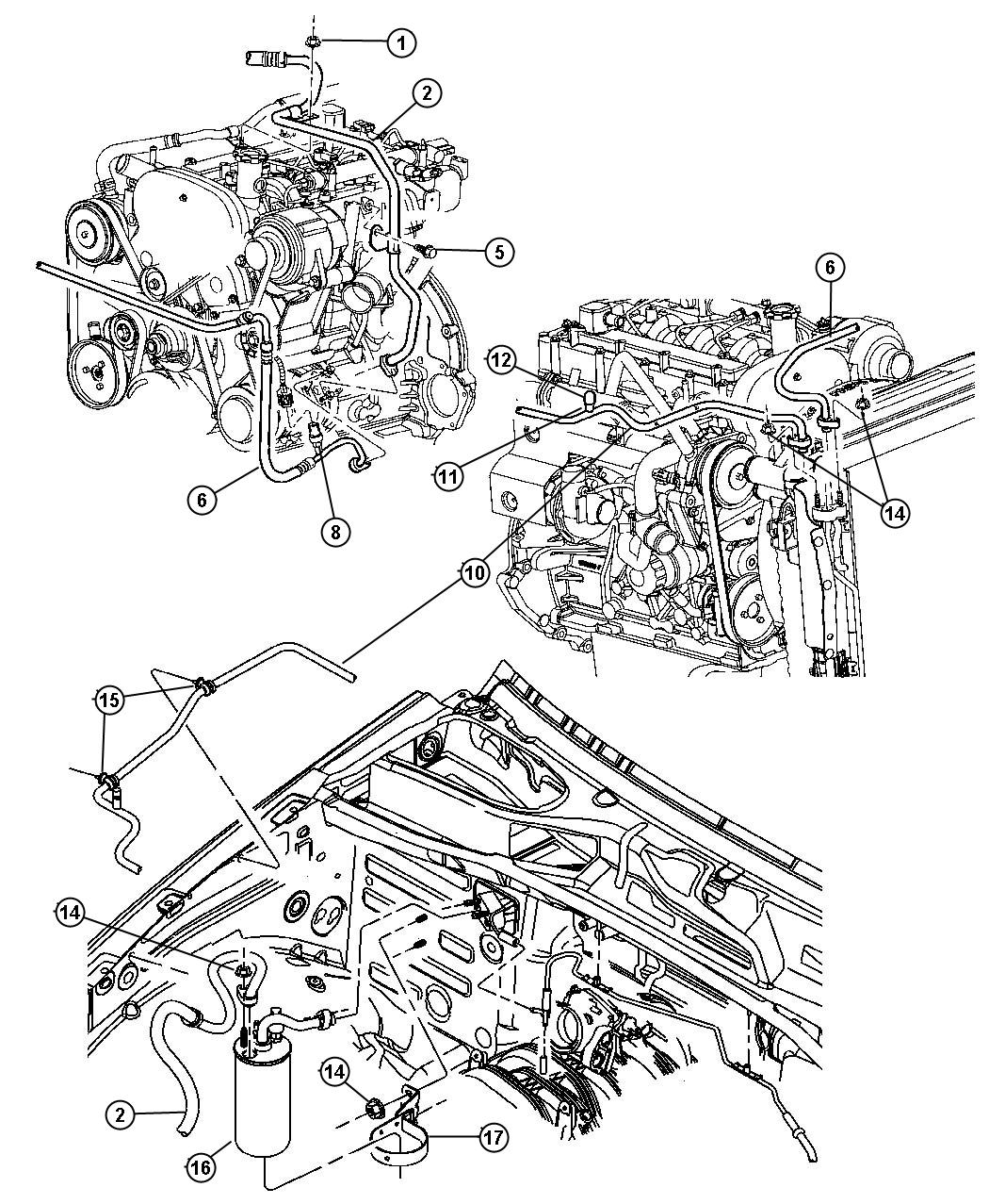 Jeep Liberty Line A C Discharge Air Conditioning