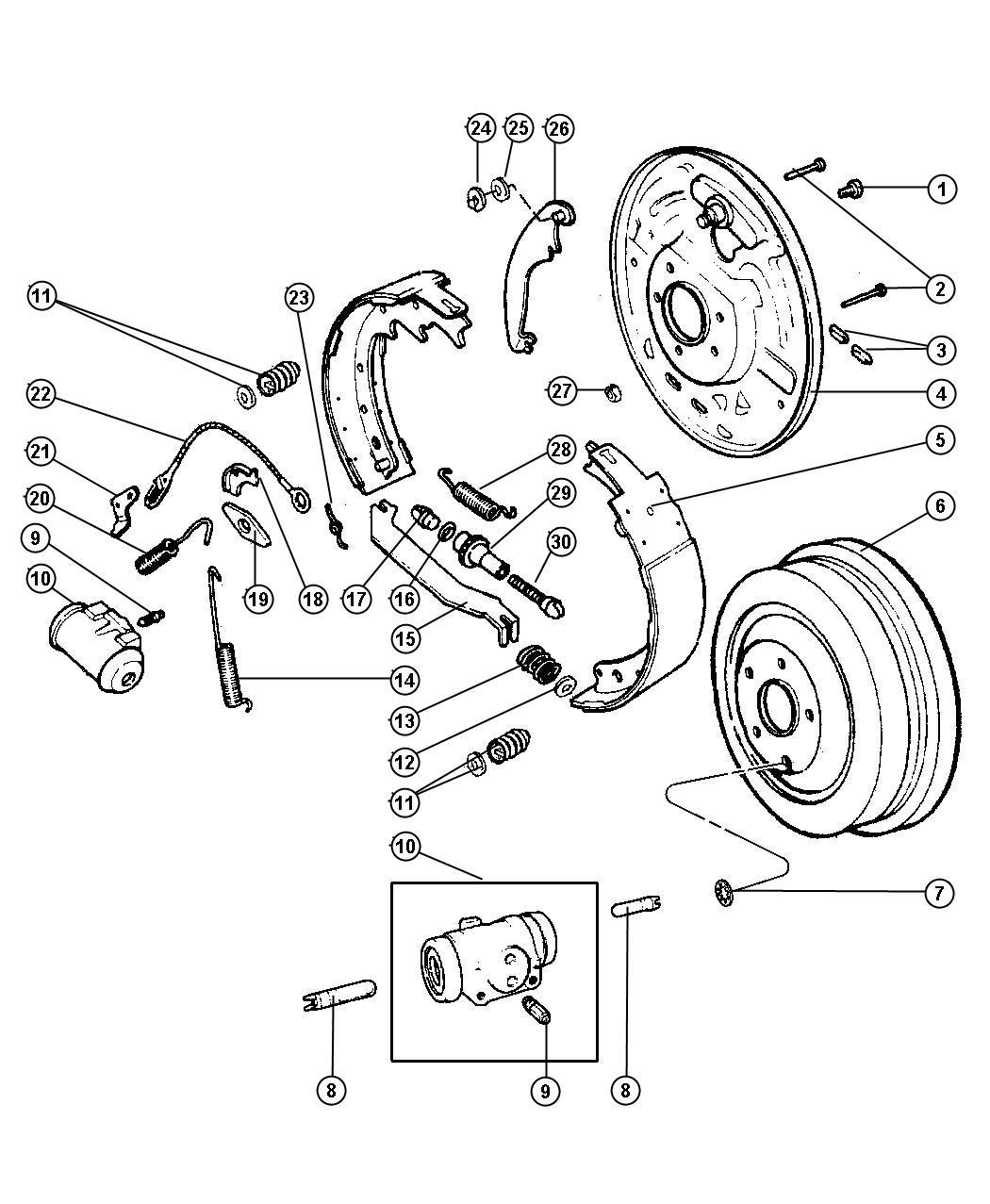 Chrysler Pt Cruiser Drum Brake Axle Rear Ratio
