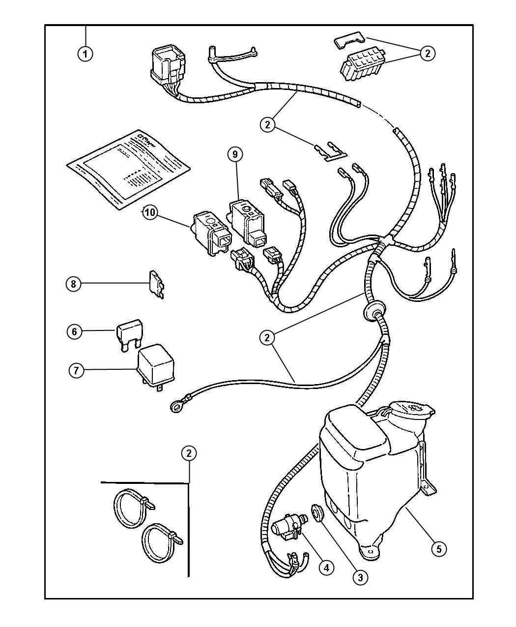 Jeep Wrangler Grommet Washer Level Sensor Washer