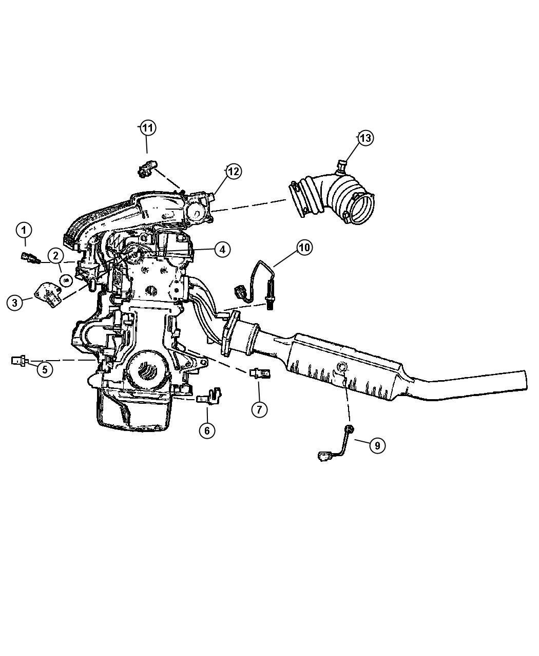 Chrysler Sebring Sensor Oxygen Downstream Sensors