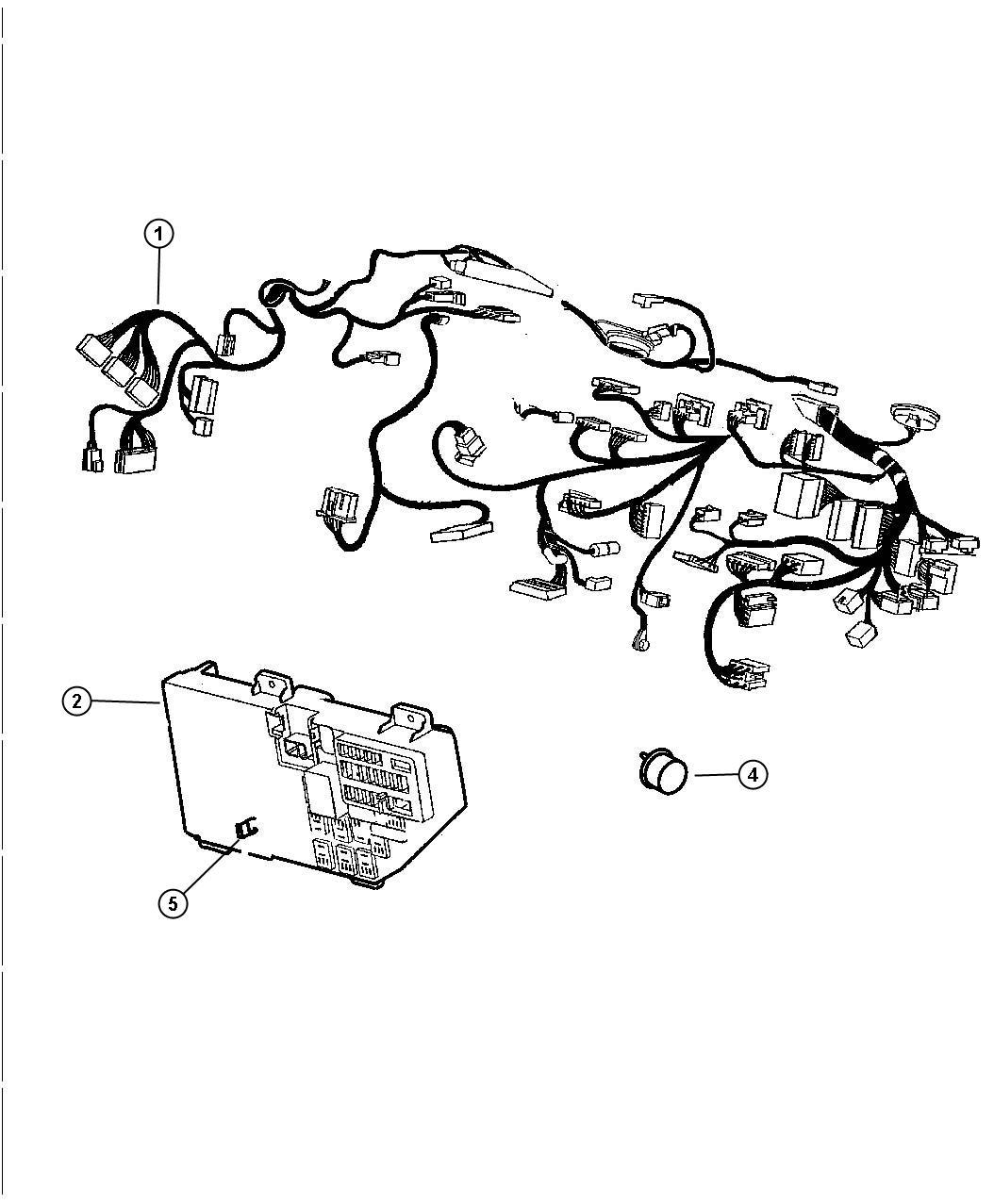 Chrysler Lhs Wiring Instrument Panel W Manual A C