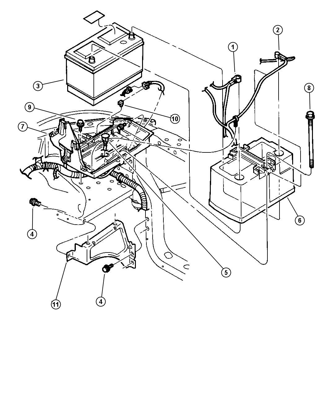 Chrysler Sebring Battery Storage Bce 600 Cca Maintenance Free Batteries