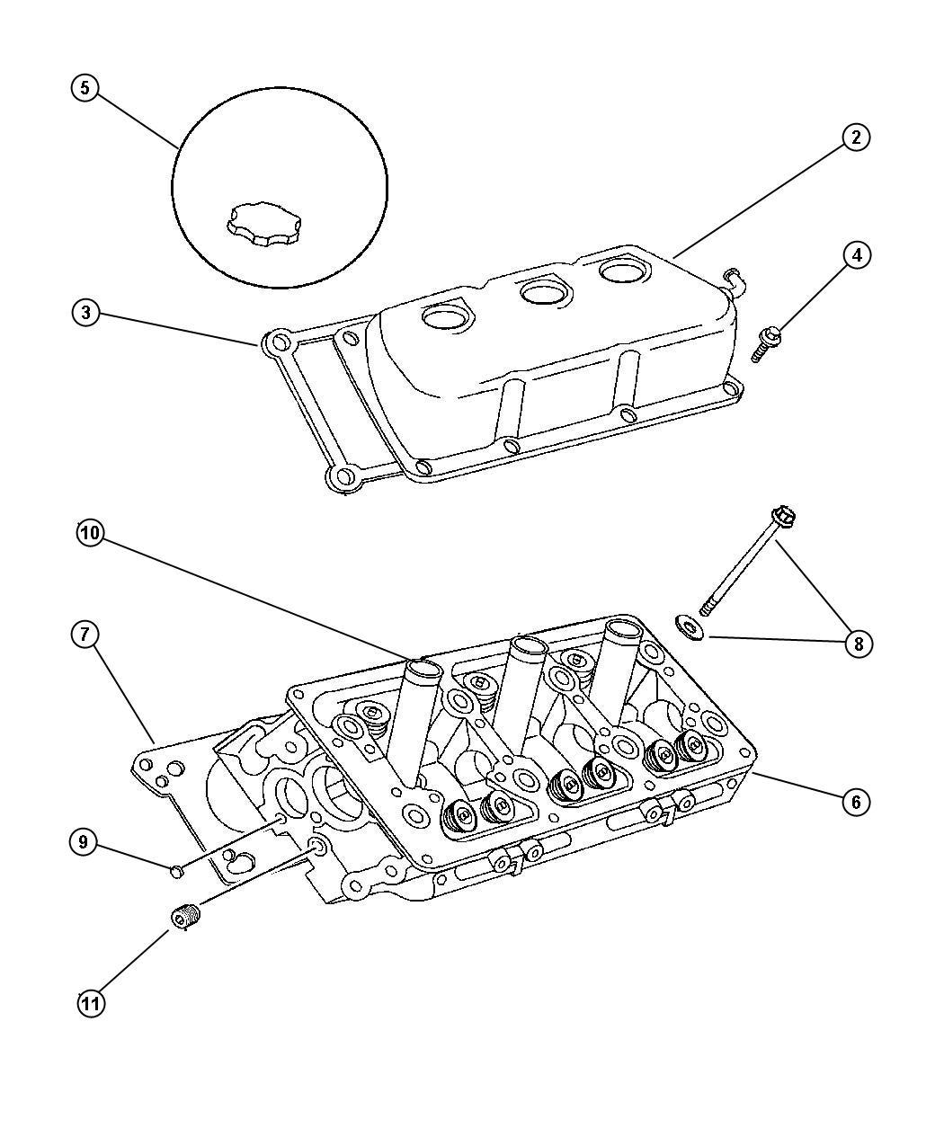 Chrysler Sebring Seal Spark Plug Tube