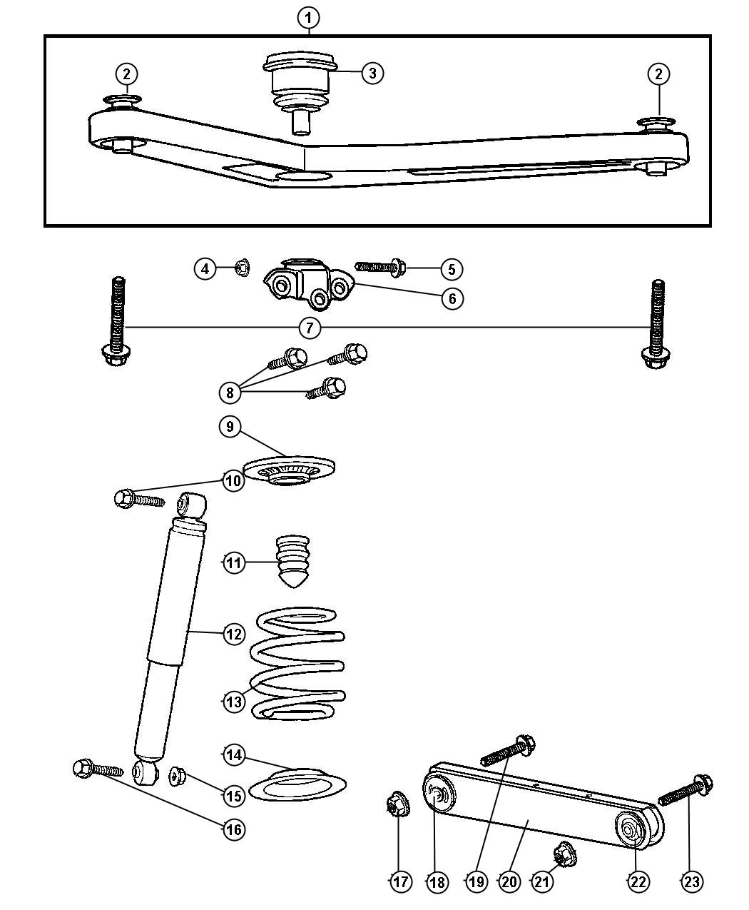 Jeep Liberty Shock Absorber Suspension Rear Normal