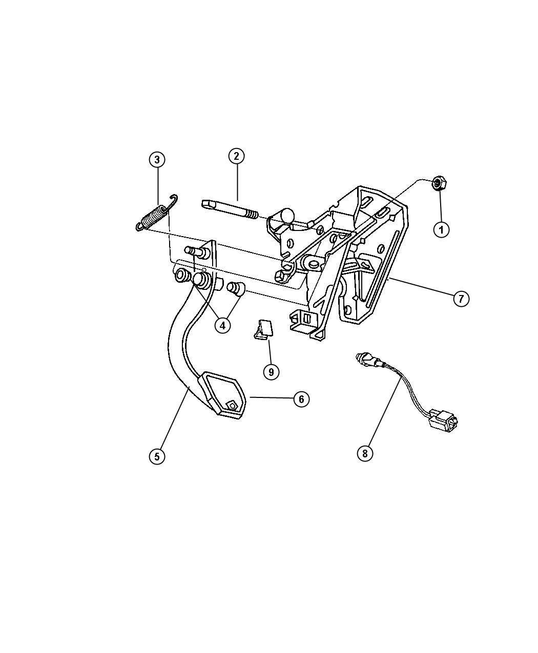 Dodge Stratus Pedal Clutch Hydraulic Clutch Manual