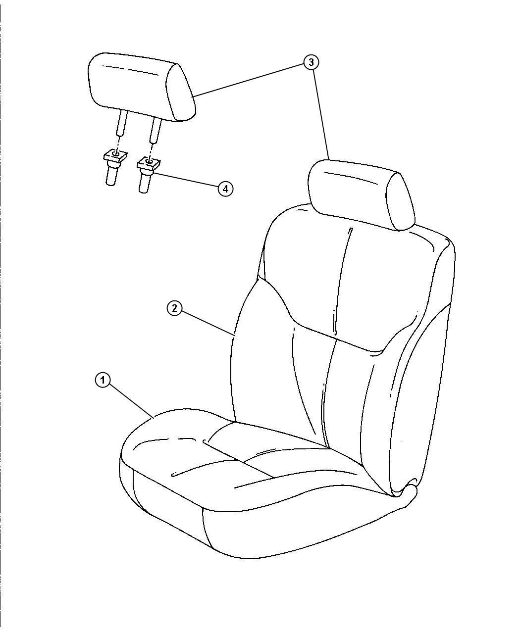 Dodge Stratus Headrest Front L5 Trim Seat