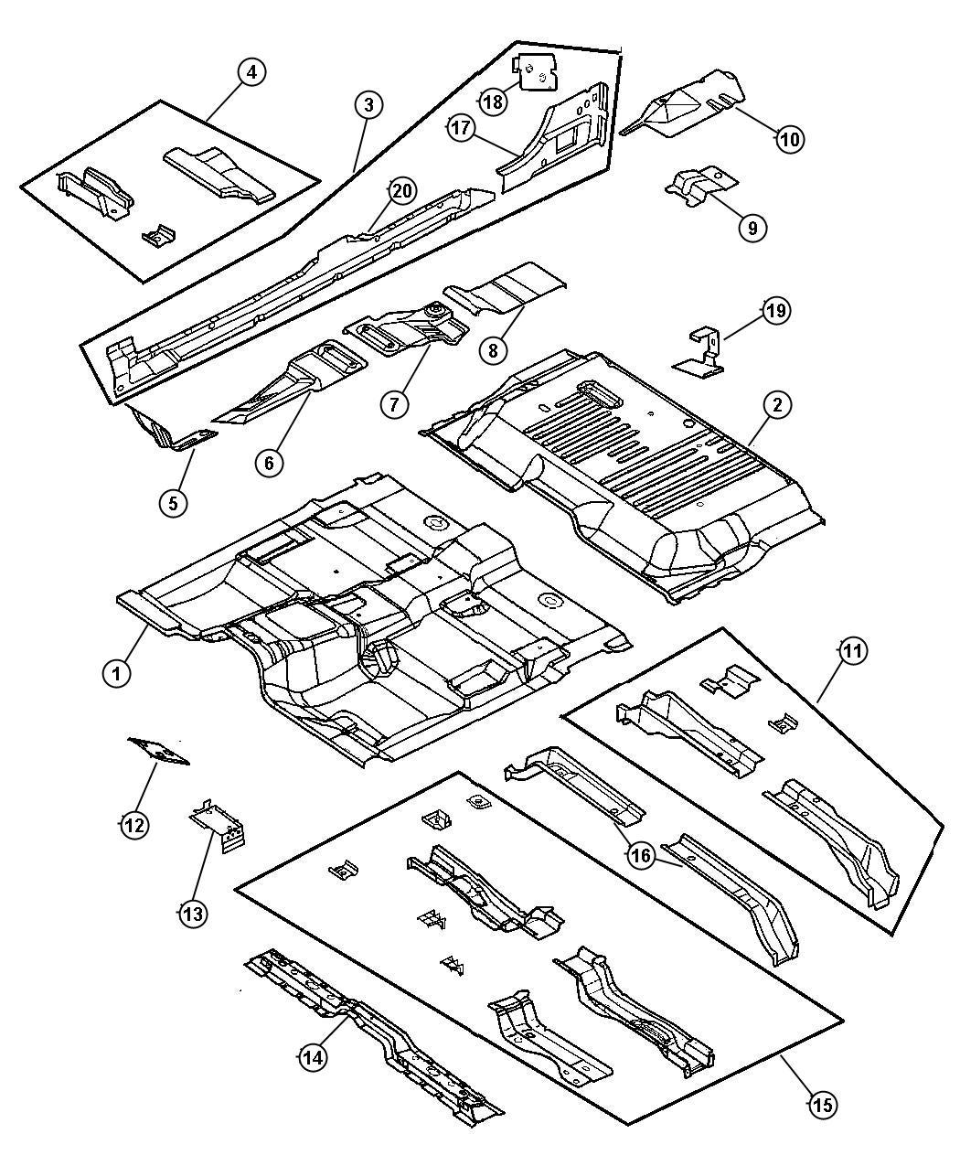 Dodge Dakota Shield Heat Middle Pan Converter