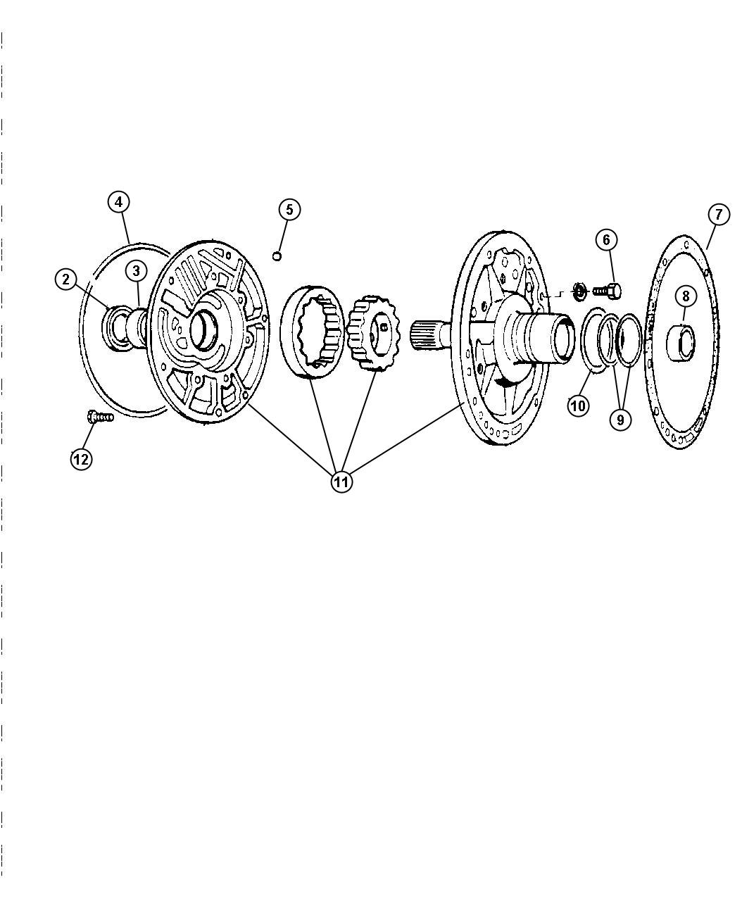 Dodge Intrepid Pump Transmission Oil Spd Automatic