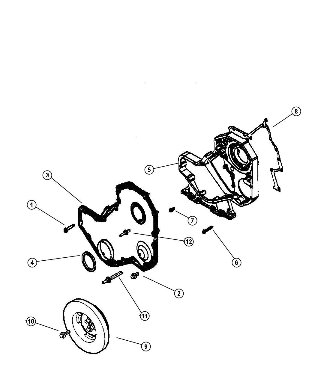 Dodge Gasket Gear Housing