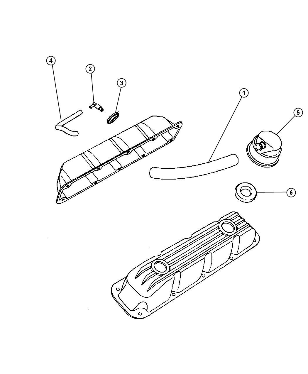 Dodge Intrepid Hose Crankcase Vent Air Cleaner To Rt
