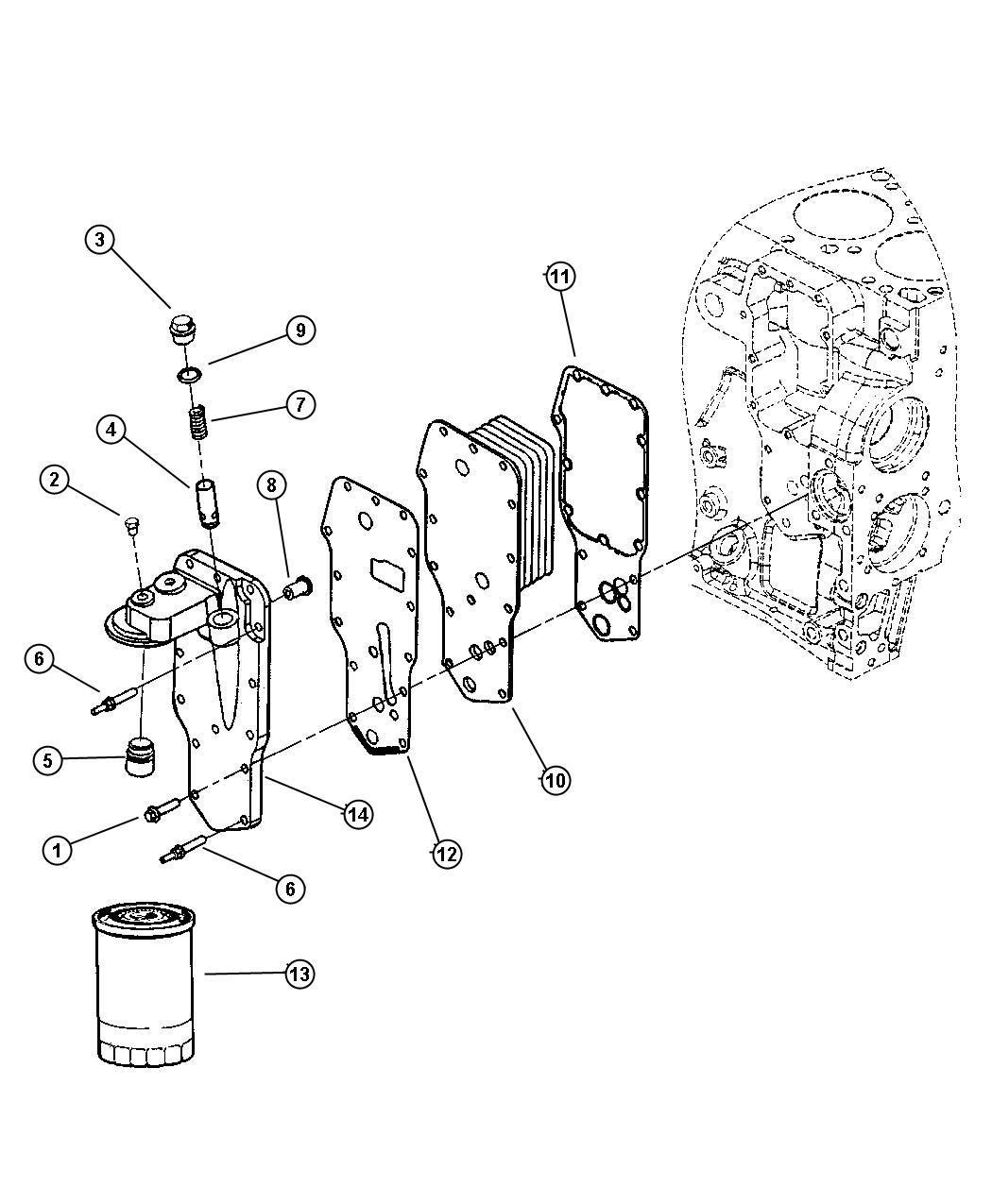 Dodge Avenger Gasket Oil Cooler Emissions