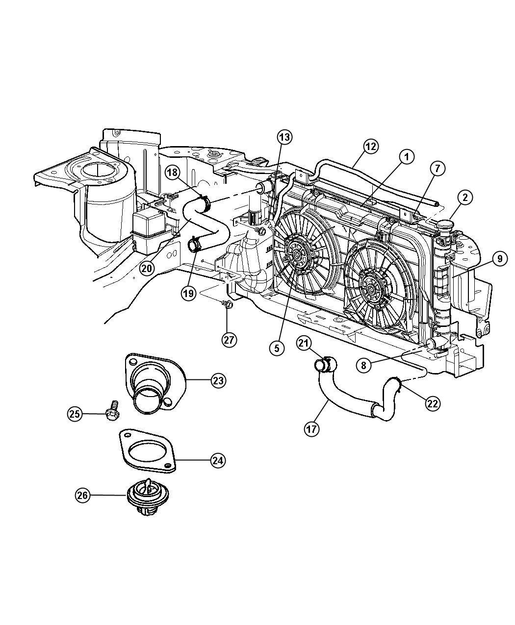 Dodge Caravan Hose Oil Cooler Outlet With Oil Cooler Engine Air Cooling