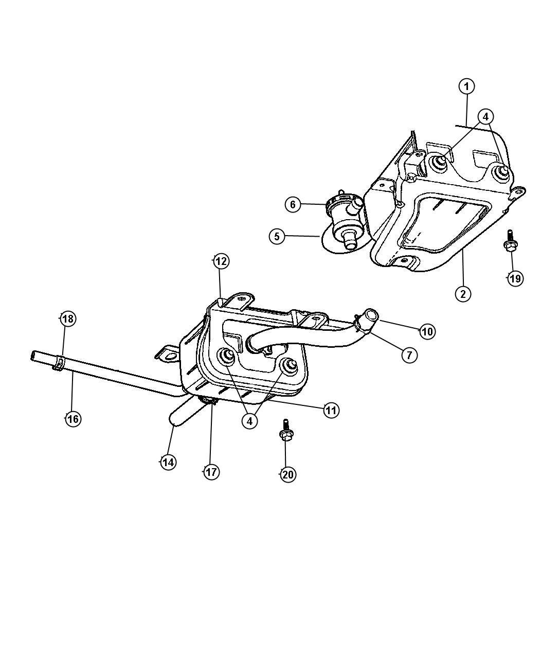 Dodge Caravan Canister Vapor Vacuum Mopar Front