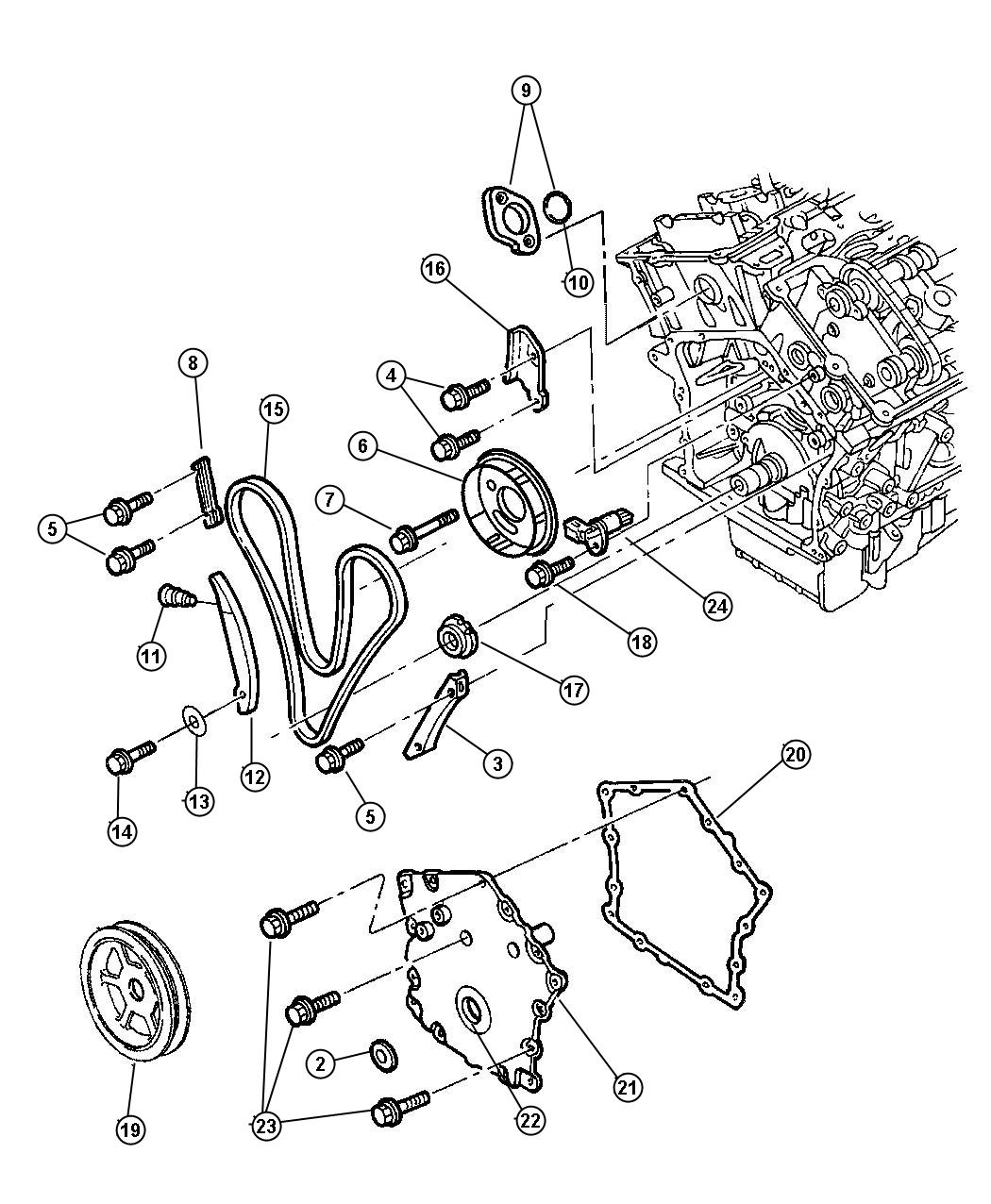 Chrysler Concorde Sensor Camshaft Engine Timing Chain