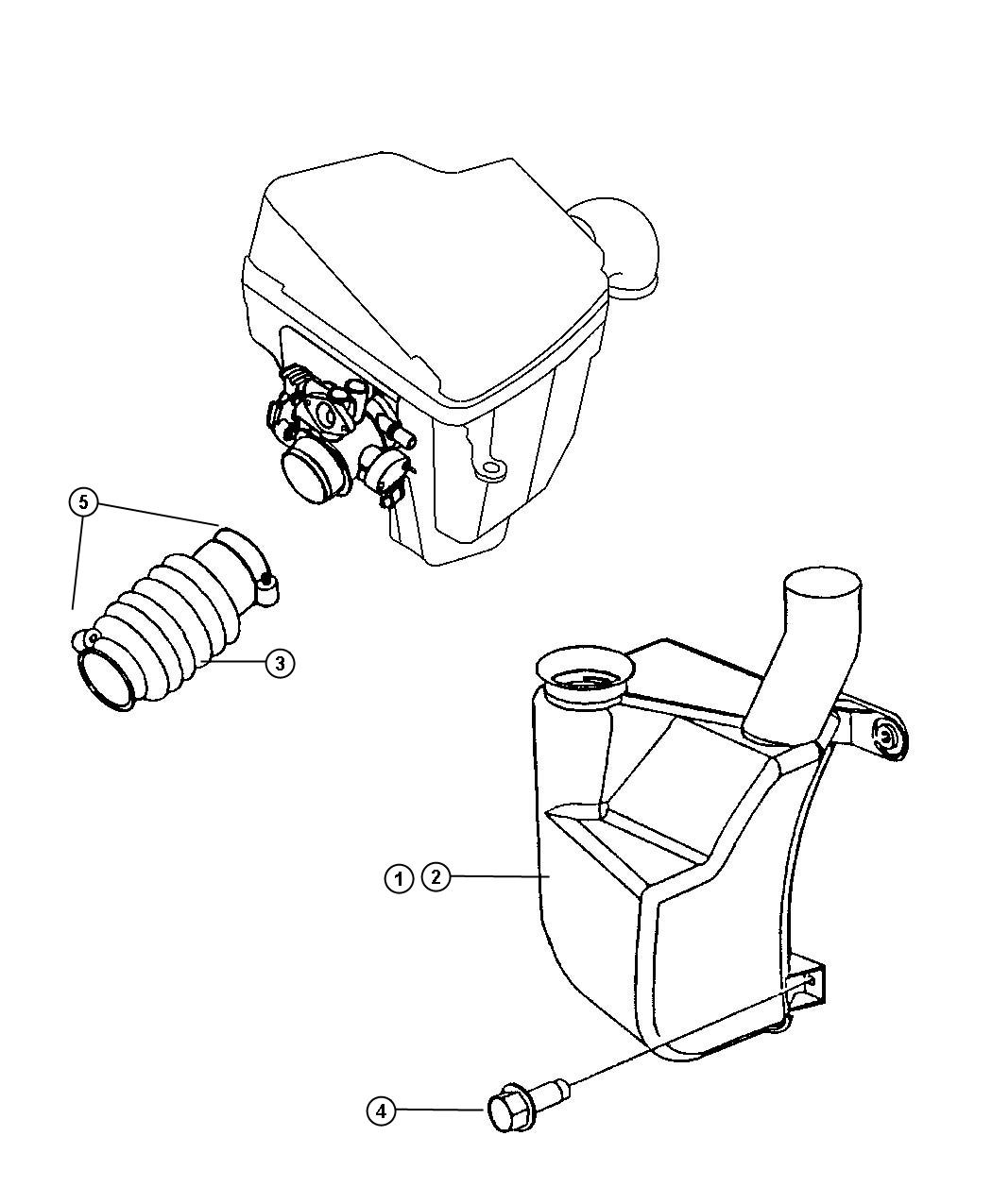 Dodge Neon Duct Throttle Body Air Intake Block