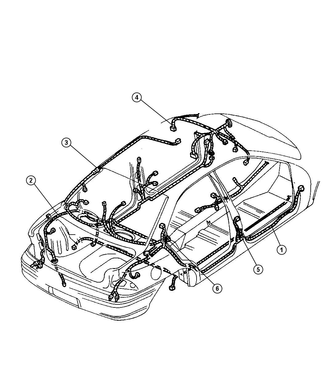 Dodge Dakota Wiring Battery Electrical Cables Body