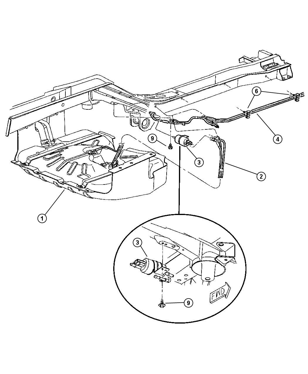 Jeep Commander Filter Fuel Lines Engine Rear