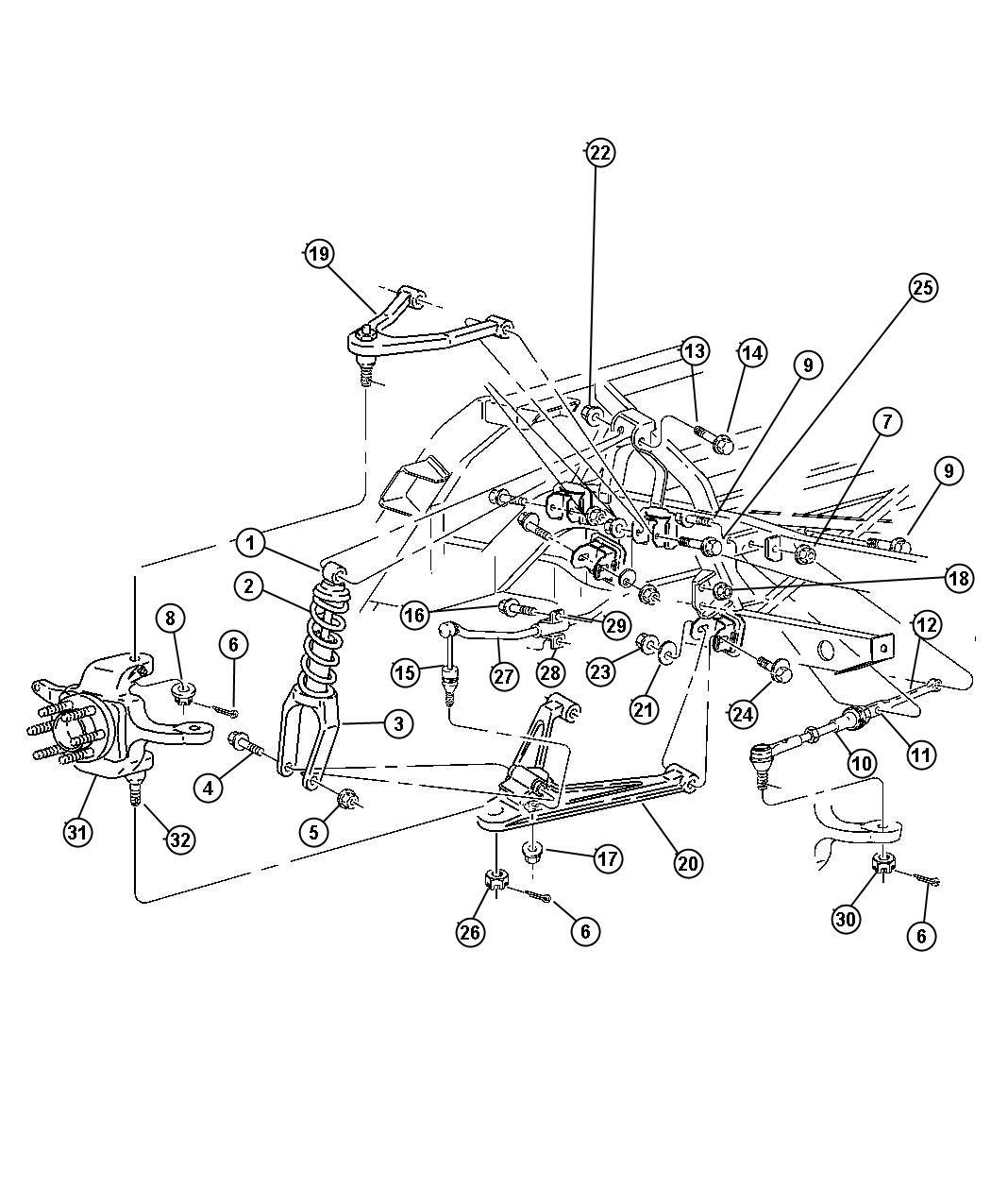 Dodge Viper Shock Absorber Suspension Rear