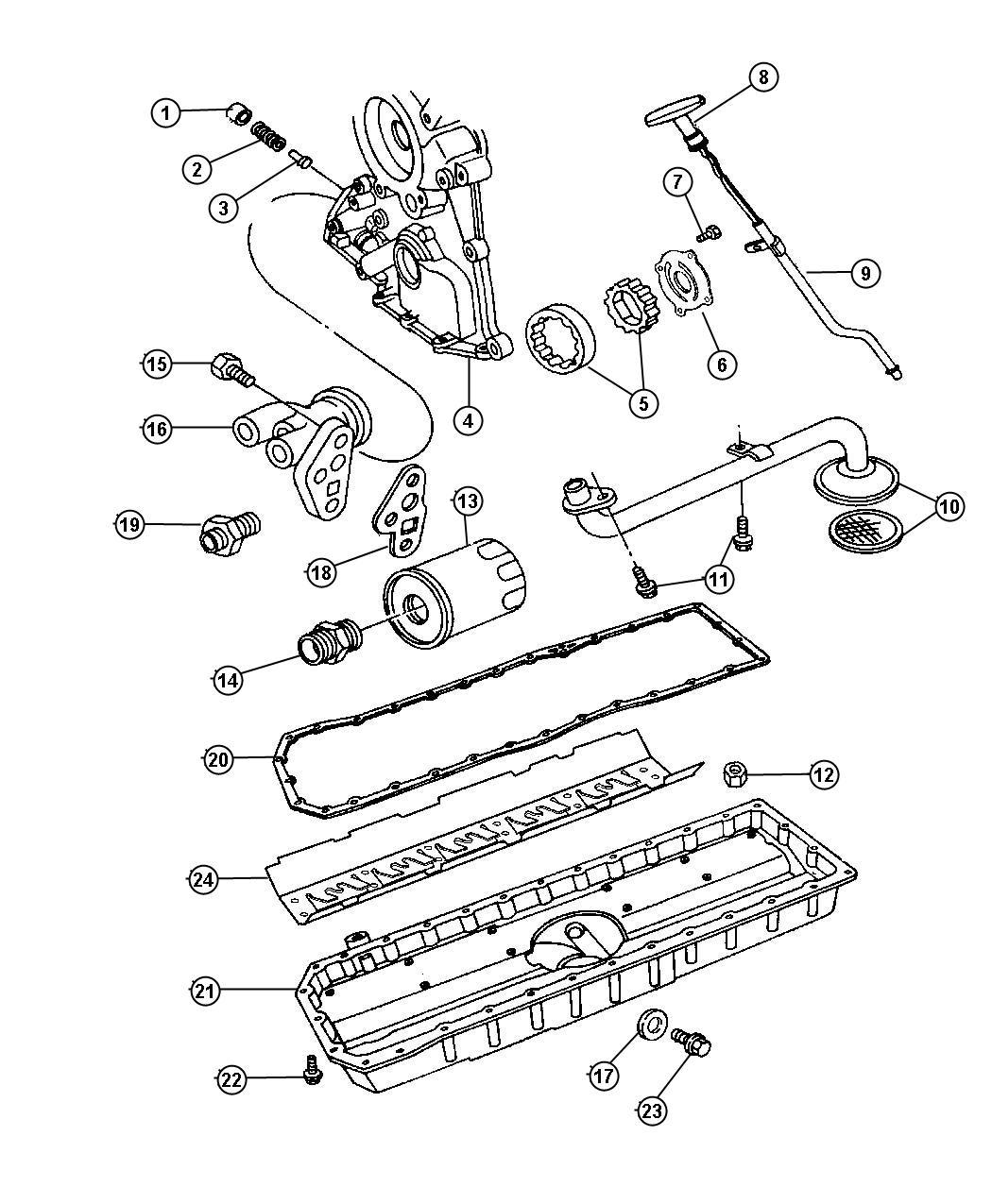 Dodge Viper Spring Oil Pressure Relief Valve 29