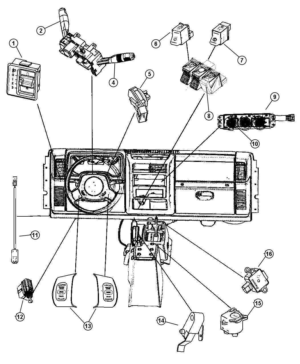 Jeep Wrangler Switch Passenger Airbag Disarm Air