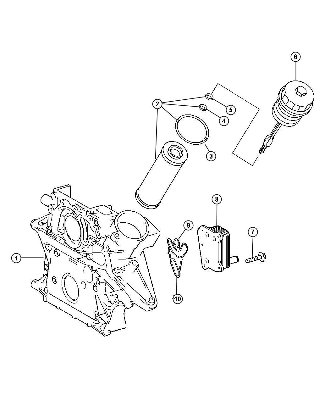 Dodge Nitro Cooler Engine Oil Includes O Rings