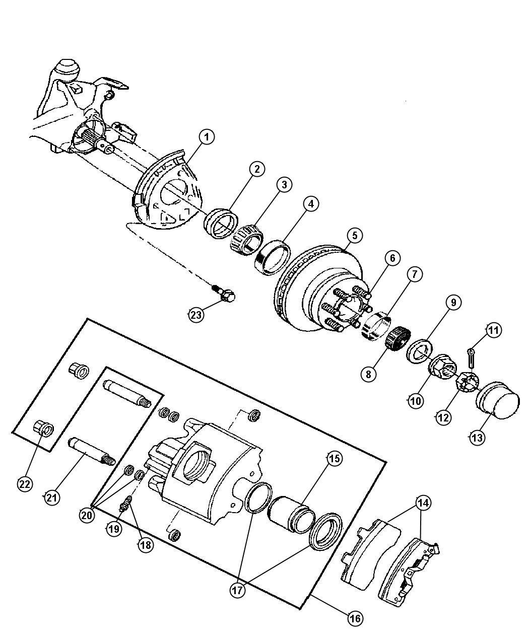 Dodge Ram Cap Wheel Hub Grease Brakes Front