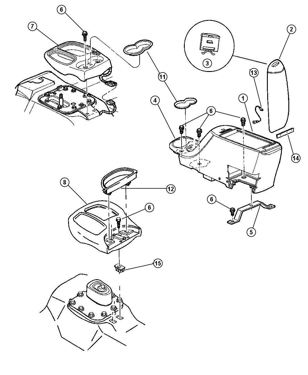 Dodge Dakota Bezel Gear Selector Automatic