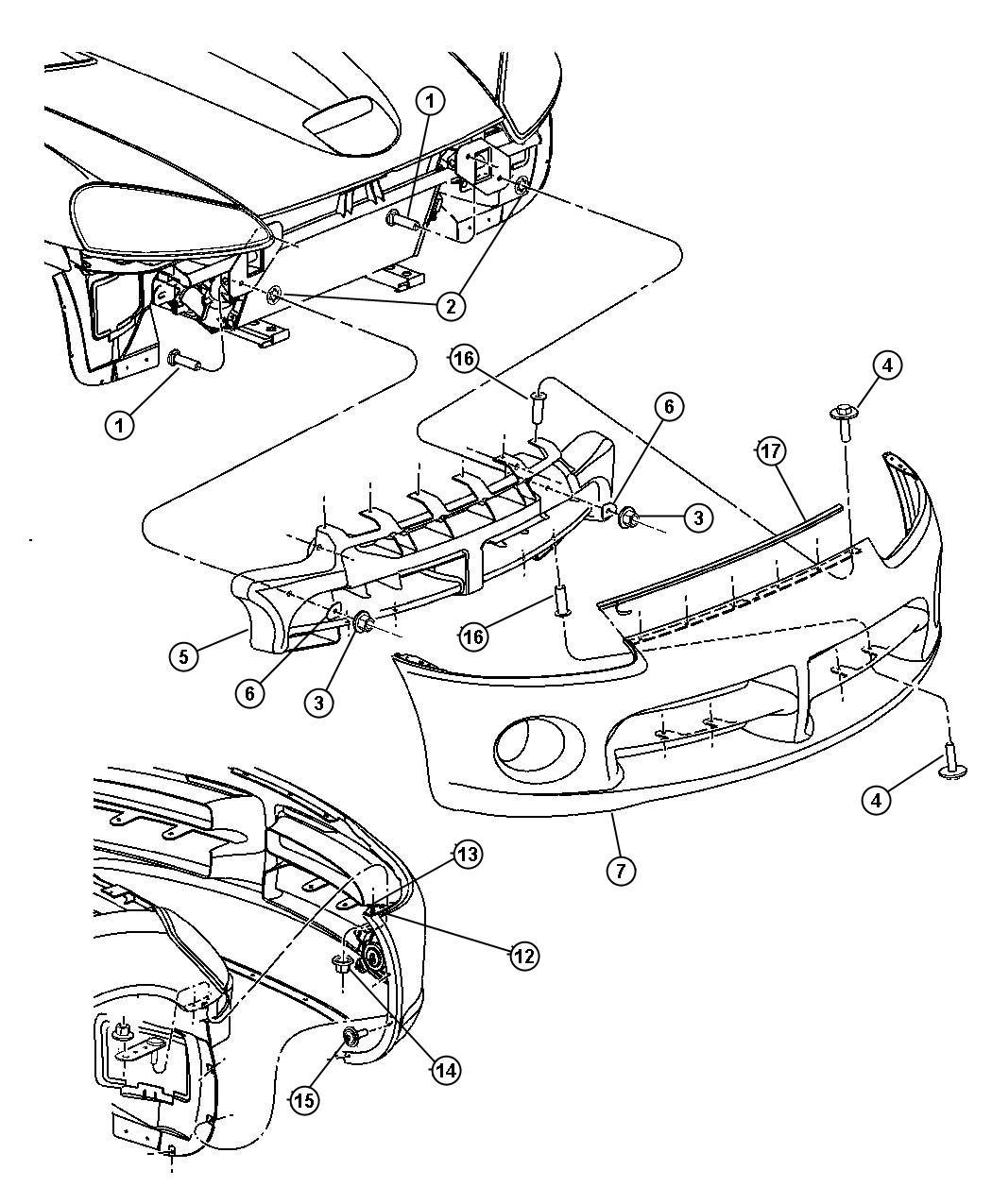 Dodge Durango Reinforcement Front Bumper Absorber