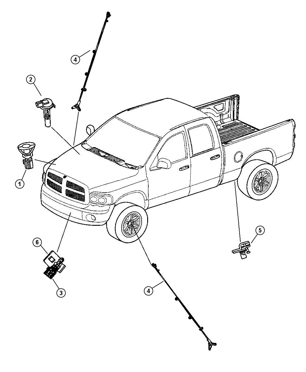 Dodge Ram Sensor Kit Anti Lock Brakes Right Or
