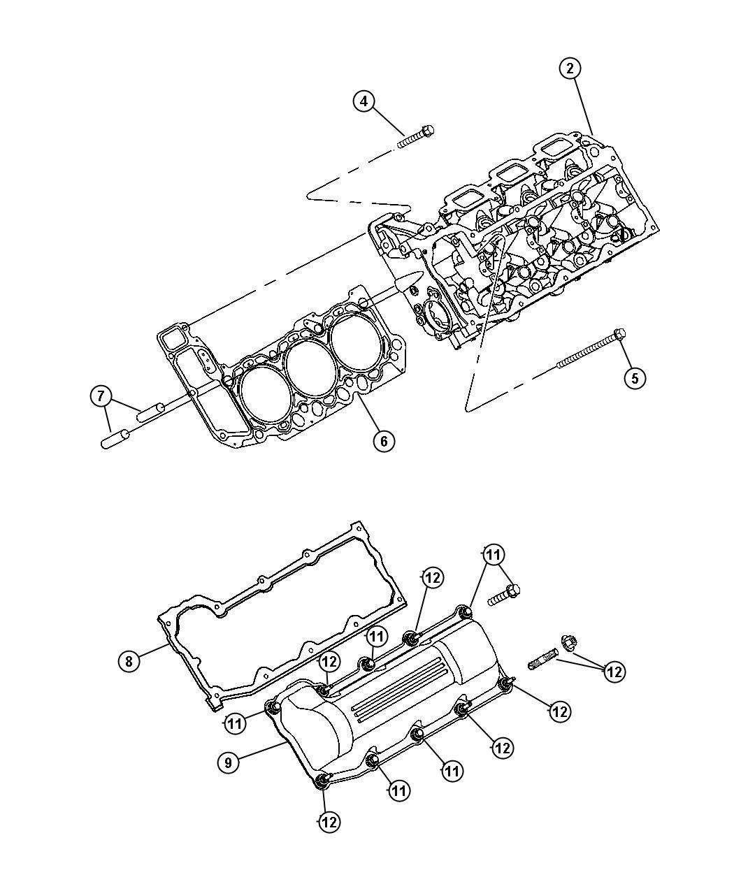 Dodge Ram Gasket Valve Cover Left Cylinder
