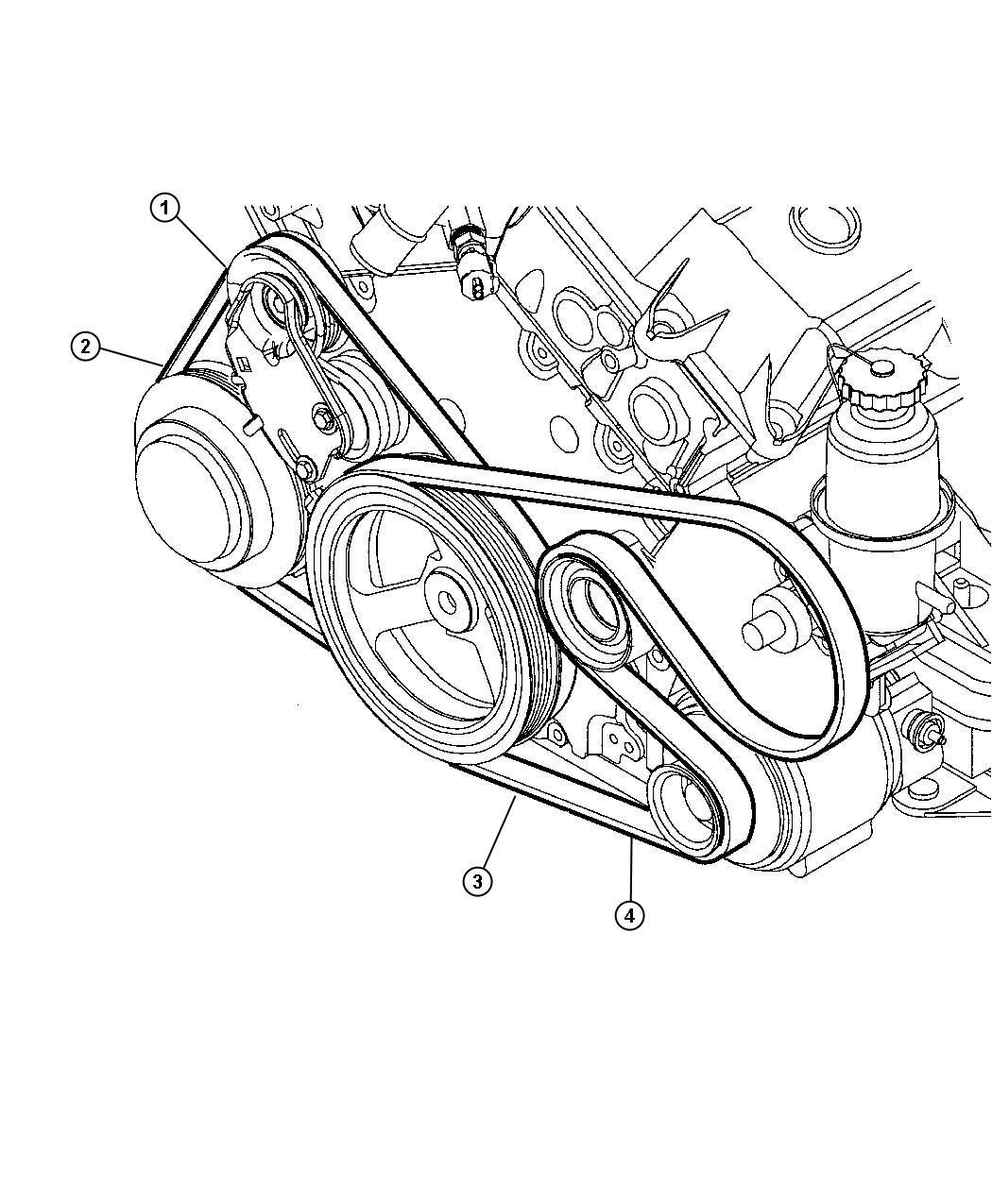 Chrysler Concorde Belt A C Compressor A C