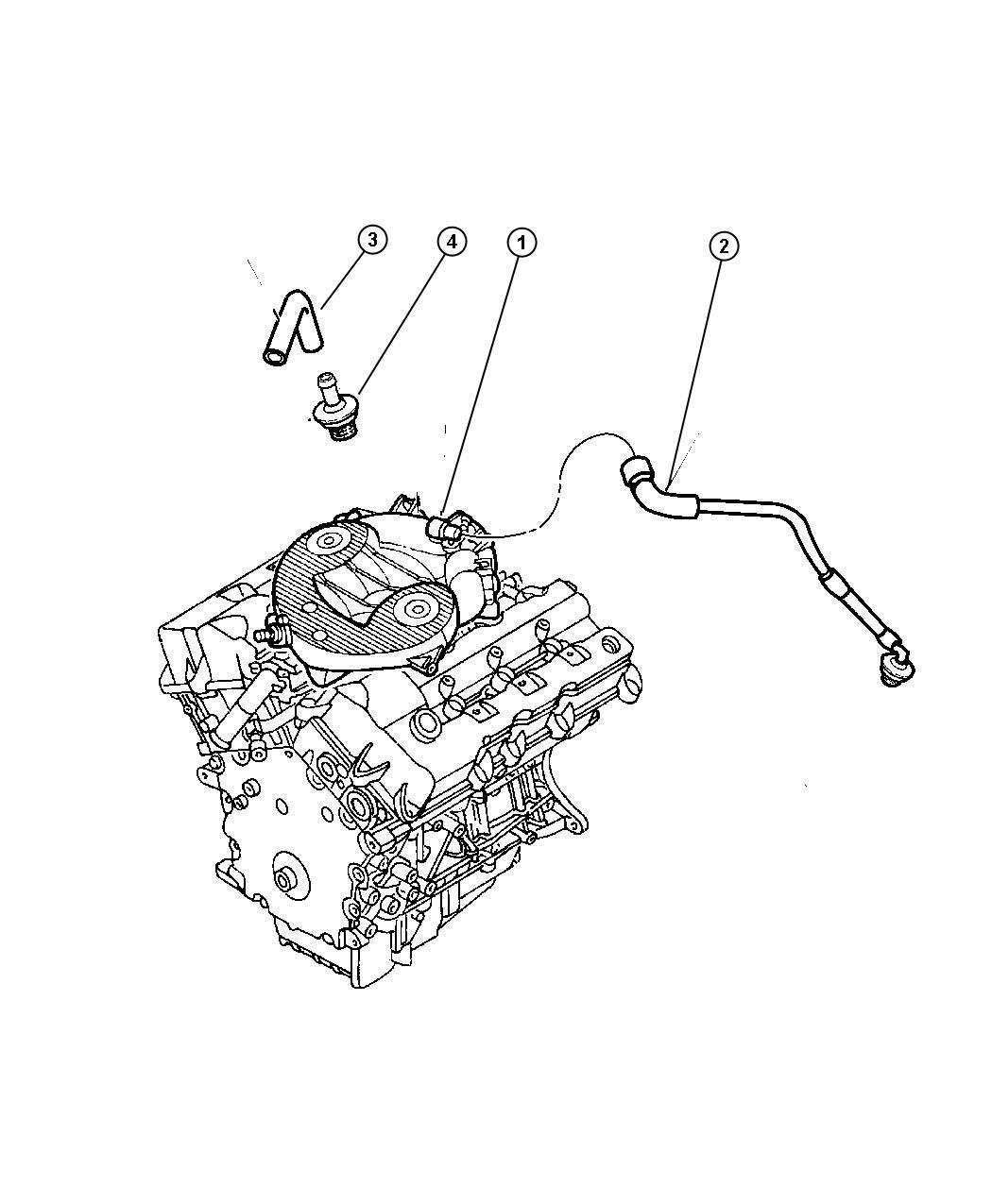 Dodge Viper Hose Cylinder Head To Intake Man Engine
