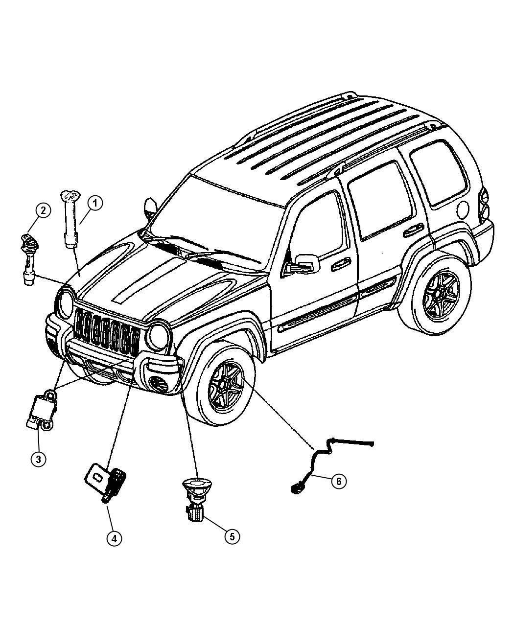 Jeep Liberty Sensor Anti Lock Brakes Right Used For