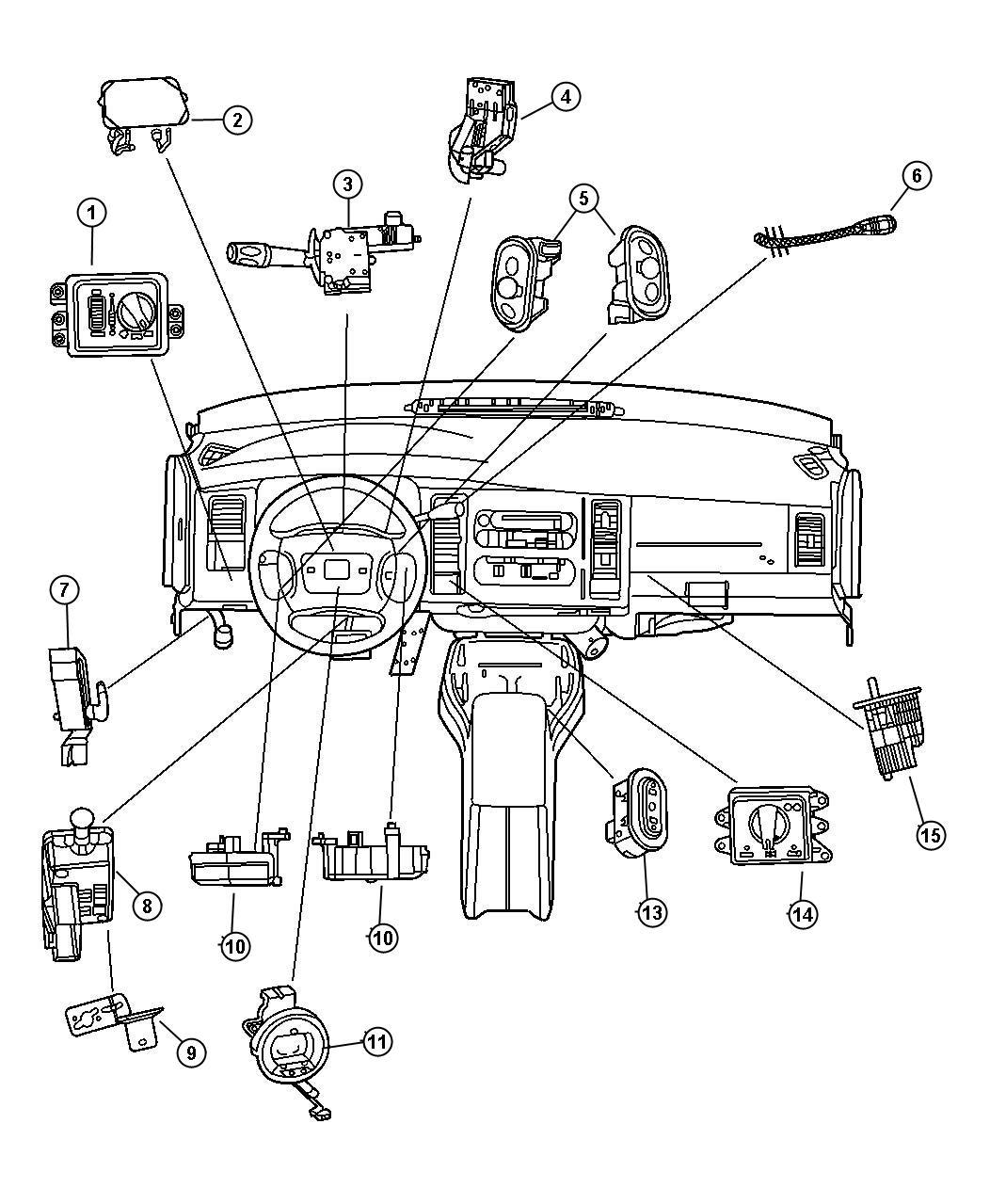 Dodge Durango Switch Ignition Steering Column
