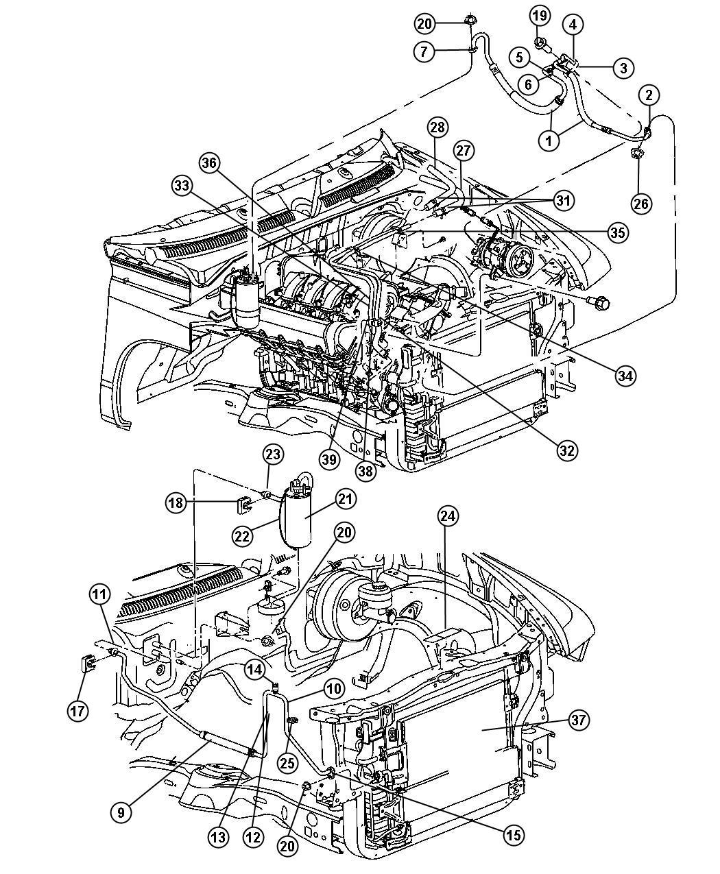 Dodge Journey Line A C Liquid Air Heater