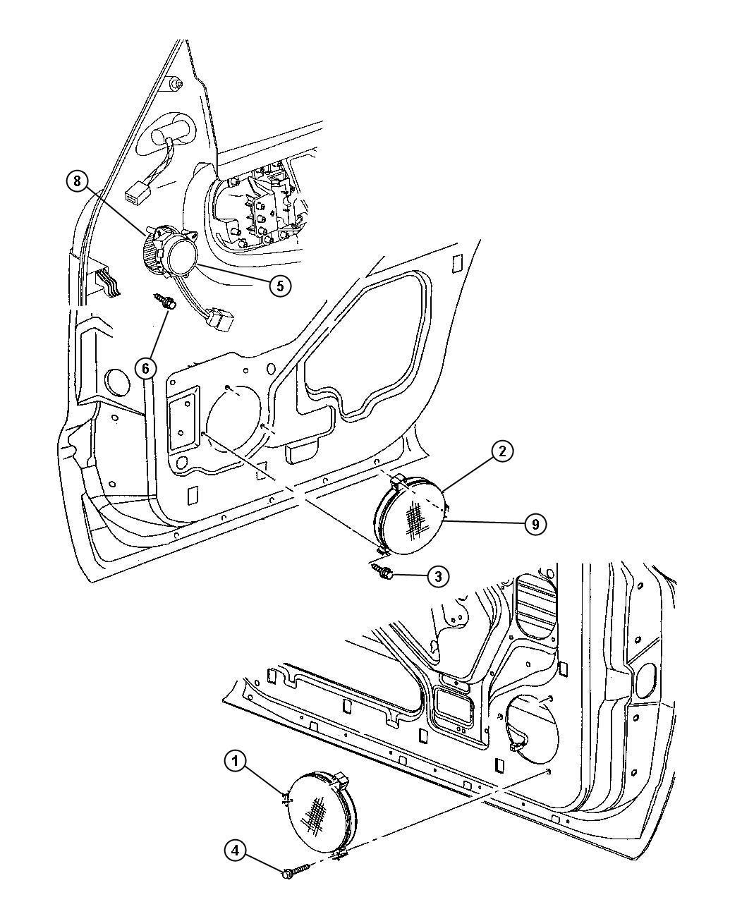 Dodge Durango Speaker Rear Door Right Rear