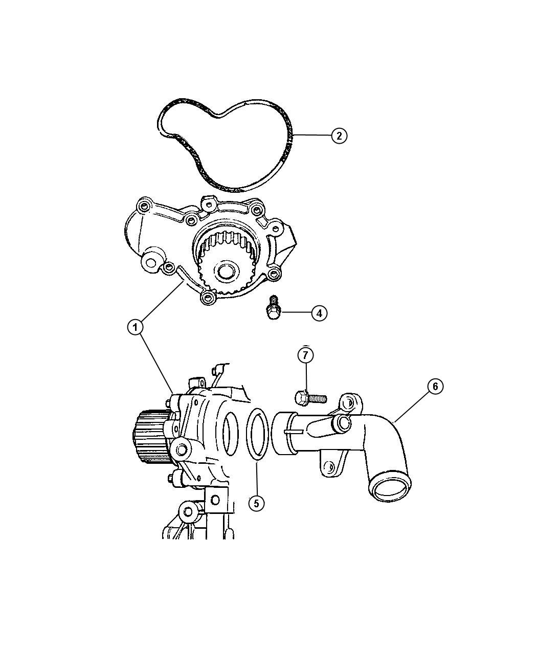 Jeep Commander Hose Water Pump Inlet Cooling