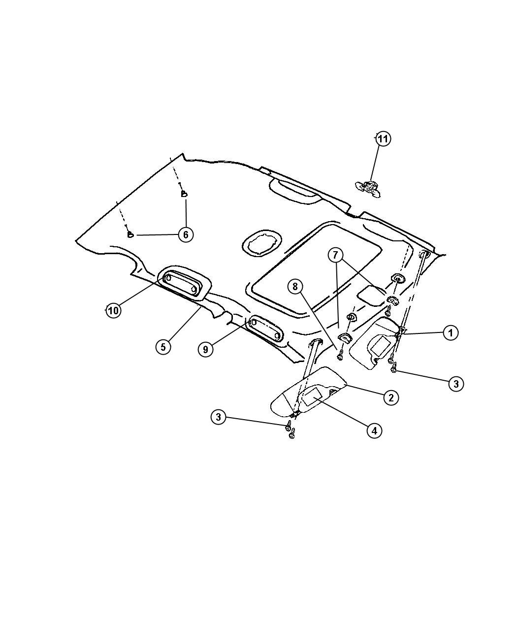 Chrysler Pt Cruiser Clip Export Trim Cloth Front