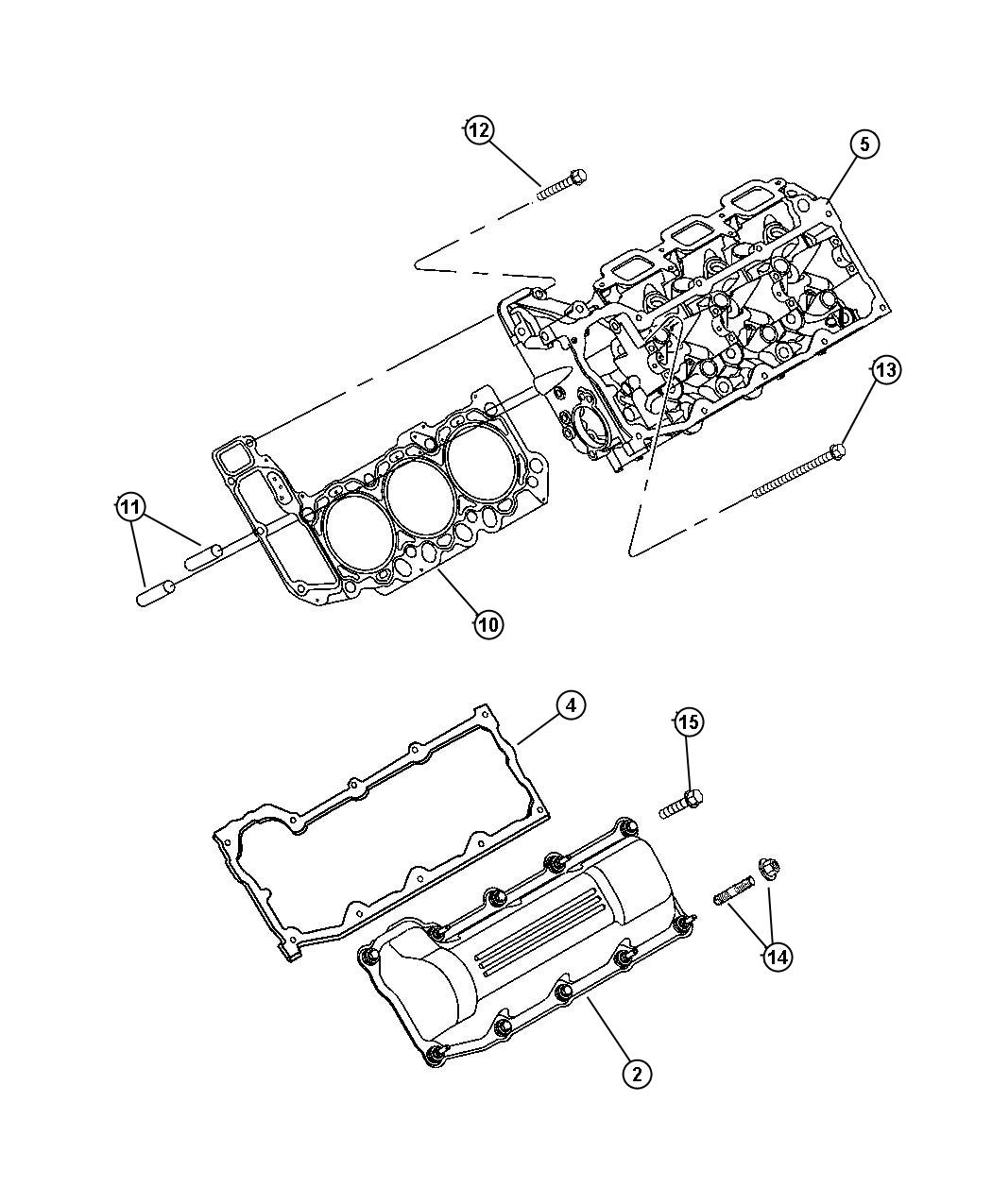 Jeep Patriot Gasket Valve Cover Right Cylinder