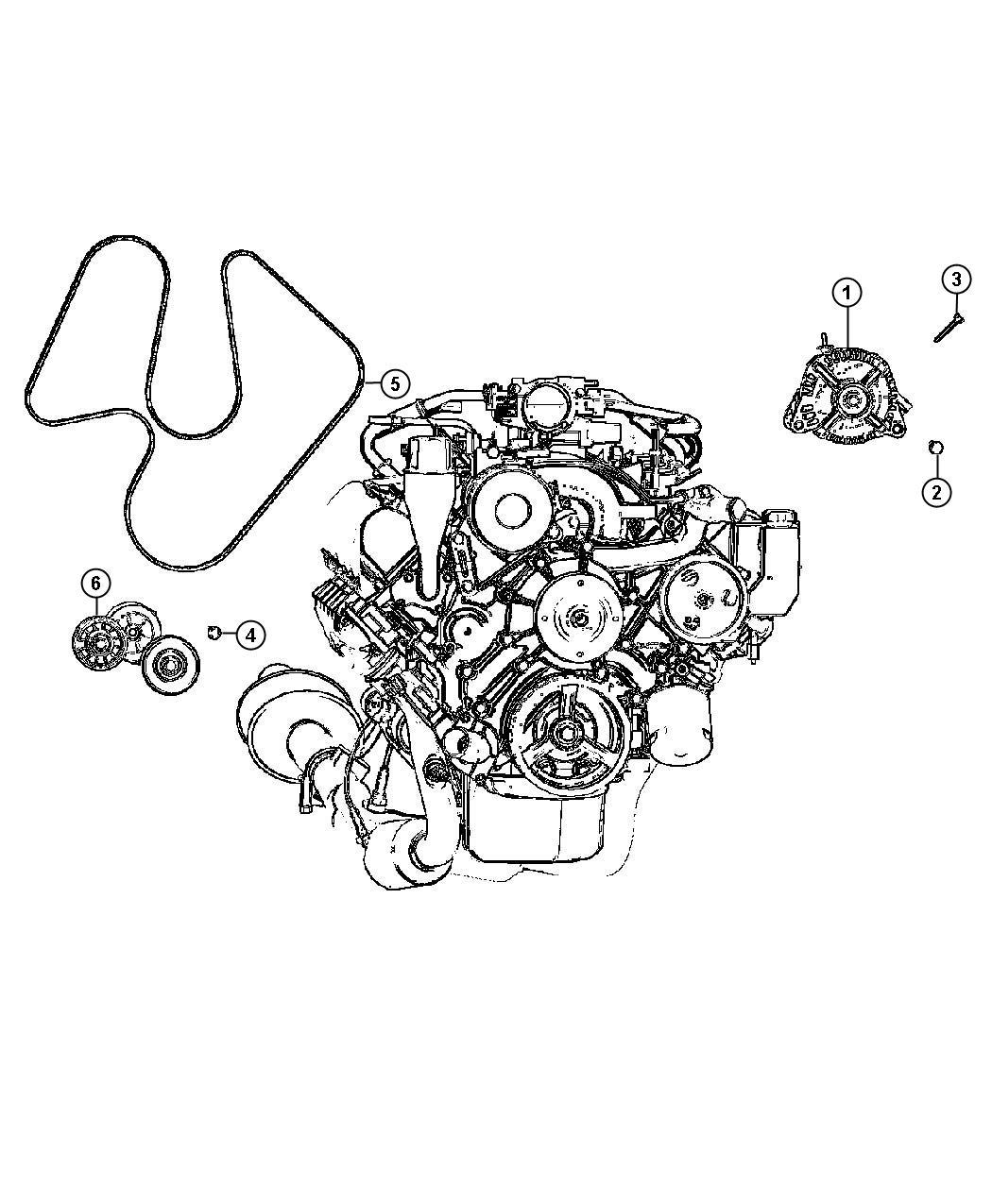 Chrysler Sebring Generator Engine Remanufactured 136